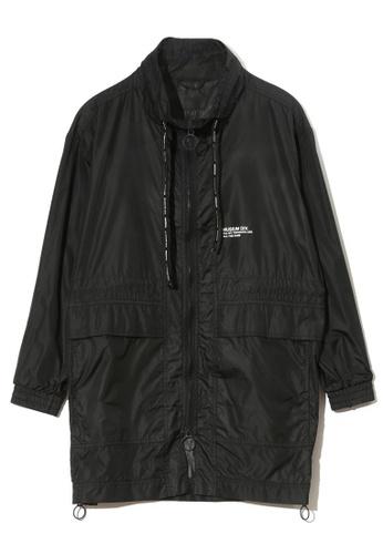 MUSIUM DIV black Dual pocket drawstring detail jacket 7139FAA14F04C8GS_1