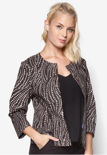 印花長袖外套, 服飾, 夾克 &aesprit台灣網頁mp; 大衣