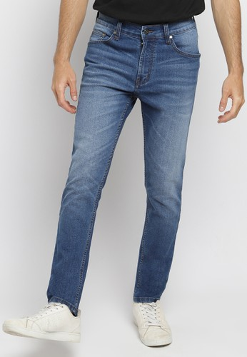 PAULMAY blue PAULMAY Celana Panjang Jeans Pria Slim Fit - Wisker Blue 3D 35983AA9DA3445GS_1