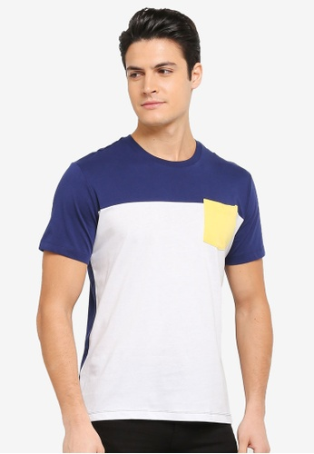 MANGO Man white Pocket Cotton T-Shirt MA449AA0T1E8MY_1