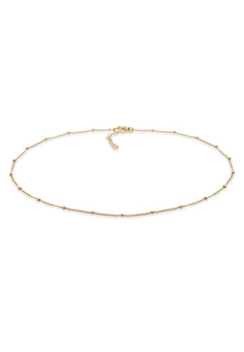 ELLI GERMANY gold Choker Ball Blogger Gold Plated Necklace C3B65AC2D0F1A3GS_1