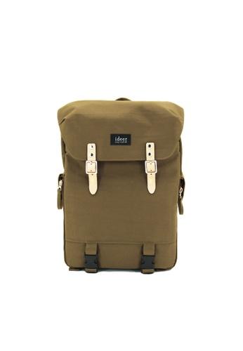 ideer gold Hunter 390 Khaki Laptop / DSLR Camera Travel Backpack A24FBAC9E848A7GS_1