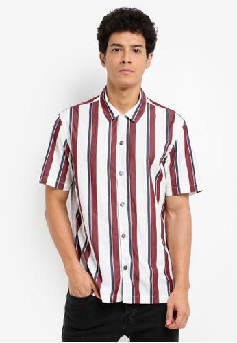MANGO Man white Regular-Fit Striped Cotton Shirt 2A1CBAA283C01BGS_1