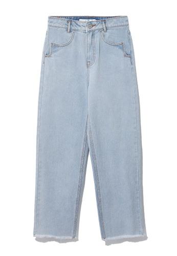 b+ab blue Frayed hem jeans 42FA8AA294C94FGS_1