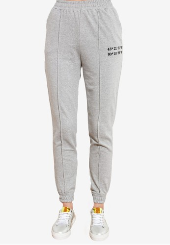 Trendyol grey Embroidered Detail Joggers 355F6AA6A22AF4GS_1