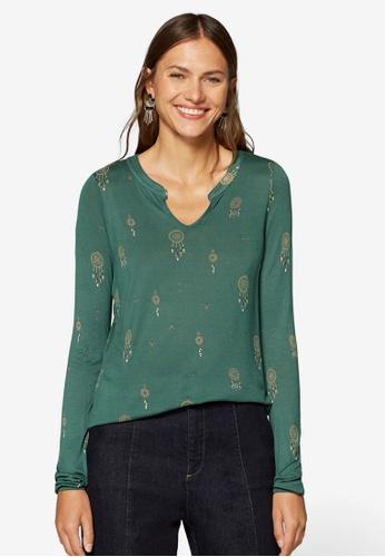 ESPRIT green Long Sleeve Blouse DF4FFAA24F7482GS_1