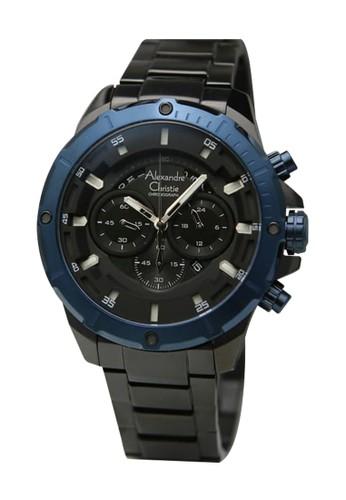Alexandre Christie black and blue Alexandre Christie Jam Tangan Pria - 6529 - Stainless Steel Black Blue C9CE2AC5B9998DGS_1