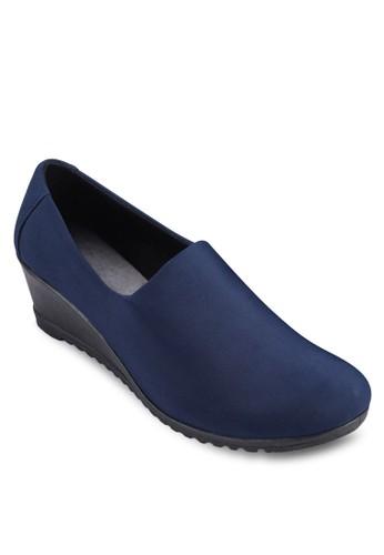 萊卡圓頭楔形鞋,esprit 台中 女鞋, 厚底楔形鞋