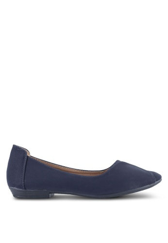 Louis Cuppers navy Fold Over Flats LO977SH0S9STMY_1
