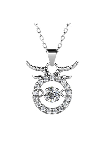 Her Jewellery white Her Jewellery 12 Horoscope Pendant - TAURUS (White Gold) embellished with Crystals from Swarovski C9BADAC465C1CAGS_1