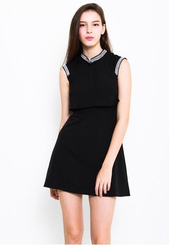 Leline Style black Heather Layered Dress LE802AA03EZOSG_1