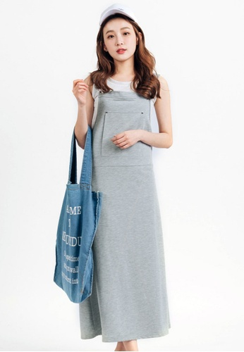 Tokichoi grey Pinafore Dress with Adjustable Straps 4D788AA6B50A90GS_1