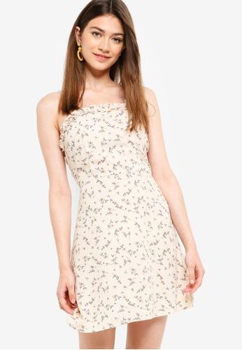 Something Borrowed beige Ruffled Cami Dress 34B70AA465A929GS_1