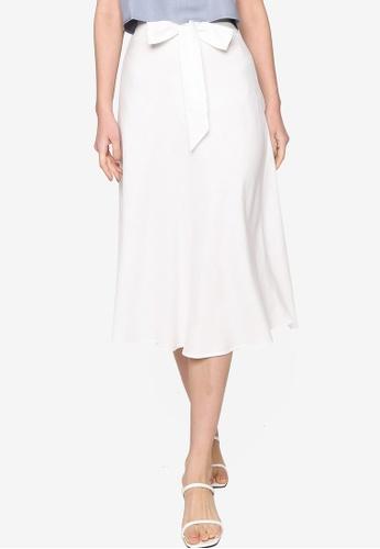 Origin by Zalora white Circular Skirt made from TENCEL™ C5CBEAA960E02DGS_1