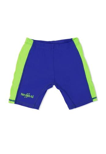 TeePeeTo green and blue Penguin Swim Short AB095KAEBCAFC1GS_1