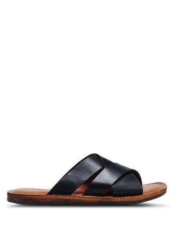 ALDO black Qasien Sandals 04C80SH0B2E5D8GS_1