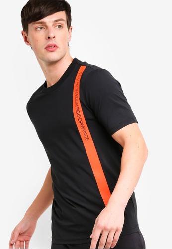 Calvin Klein 黑色 Bold Stripe Short Sleeves Tee - Calvin Klein Performance E4E97AAE50D6F3GS_1