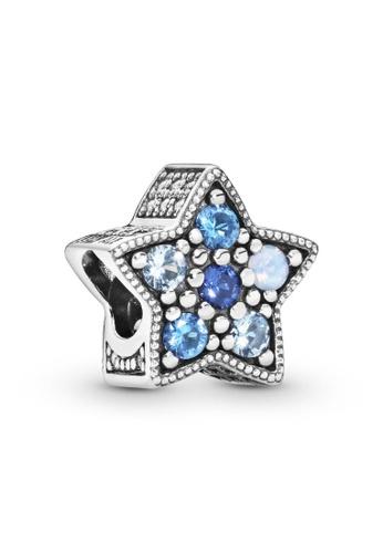 PANDORA silver Pandora Bright Blue Star Charm 92641AC685ADC1GS_1