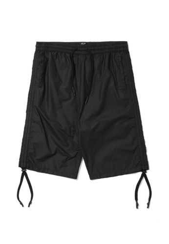 Fivecm black Cinched sides pocket shorts 73F27AA3AC3EB3GS_1