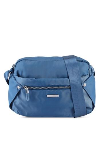 NUVEAU blue Lightweight Nylon Sling Bag 8EF4DAC35924ADGS_1