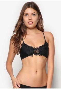 Lace Insert Cami Bikini Top