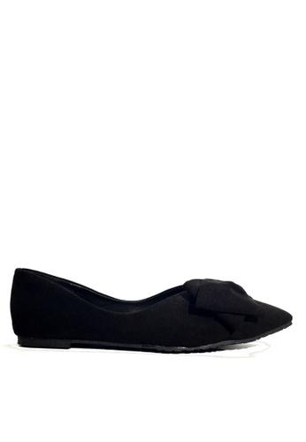 Twenty Eight Shoes black Point Toe Bow Ballerinas VL168 10431SHDE3F89BGS_1