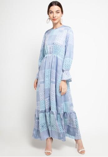 Covering Story blue Zaira Dress - B A92D5AA7CB71C9GS_1