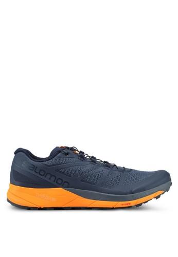 Salomon orange and blue Sense Ride Shoes C6432SHC2D83F1GS_1