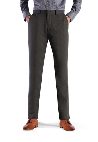 T.M. LEWIN grey T.M.Lewin Coolmax Single Trouser Charcoal 92022AA9DEE413GS_1