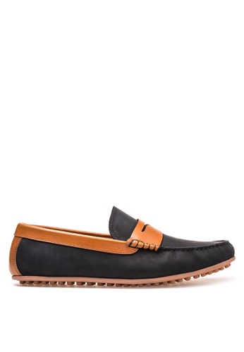 Bristol Shoes black Stratton  Penny Loafer Driving Shoes BR842SH37THAPH_1