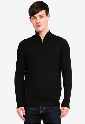 River Island 黑色 高領刺繡上衣 B5050AA54DBF6EGS_1