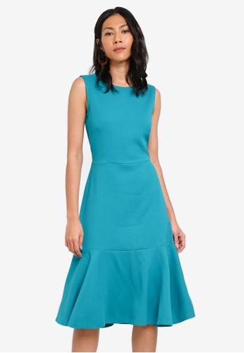 CLOSET green Sleeveless Pephem Dress 65D62AAD6E86DBGS_1
