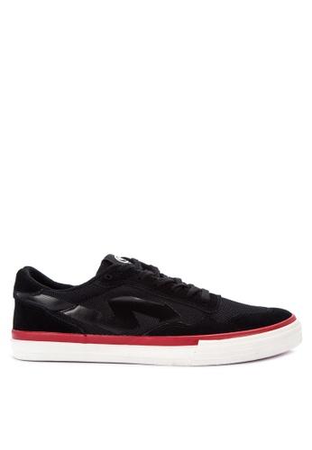 SONNIX black Barc Vulc Q118 Sneakers with Free Exclusive Sonnix Backpack 815DESHD2B546BGS_1