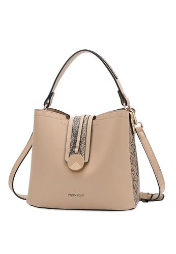 Swiss Polo brown Swiss Polo Ladies Top Handle Sling Bag CE5BDAC4434260GS_1