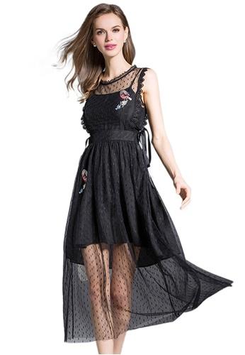 Sunnydaysweety black See Through Hem Sleeveless One Piece Dress K200413BK E132DAAE365AAFGS_1