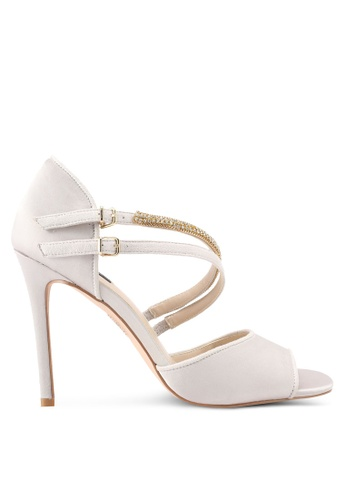 ZALORA grey Bejewelled Detail High Heels 0E7C2SH1142D32GS_1