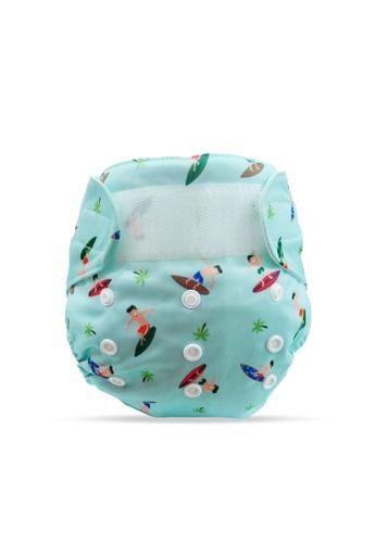 Cheekaaboo blue Baby Boy 2-in-1 Reusable Diaper 1FA33KC1536766GS_1