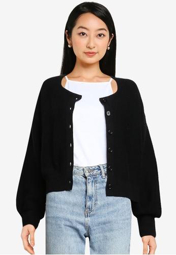 LOWRYS FARM black Knitted Cardigan E2FA9AA94A88F3GS_1