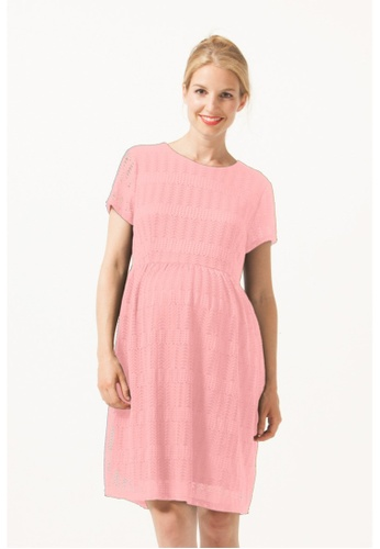 Bove by Spring Maternity pink Woven Ss Eileen Full Lace Nursing Dress Coral Blush C2107AAFDDCA22GS_1