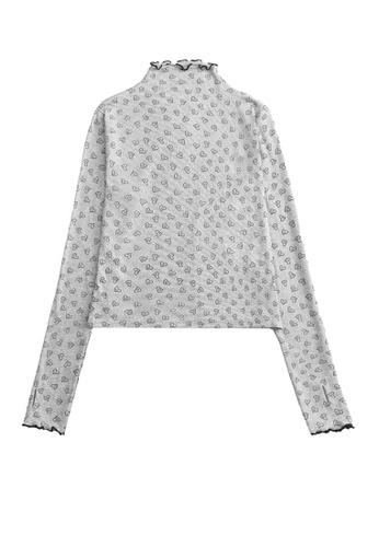 Twenty Eight Shoes Slim Love Printed Long Sleeve T-shirt HH0092 F13B5AAADBFD06GS_1