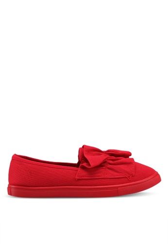 Rubi red Hazel Frill Slip Ons 3E398SH80D24B6GS_1