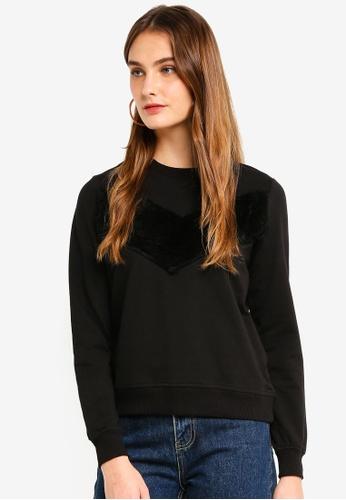 ICHI black Fury Sweater 5C033AADE88F6EGS_1