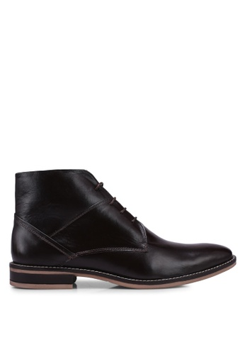 Acuto brown Leather Boots D664ESHEC0BEF0GS_1