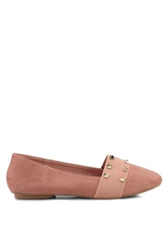 Noveni 粉紅色 Studded Flats A1A2FSHD0166F9GS_1