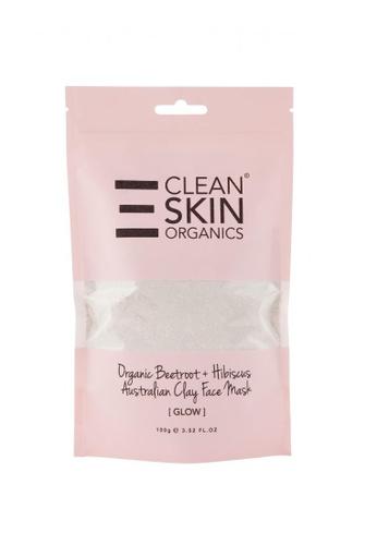 Livebetterasia Singapore Clean Skin Organics Clay Face Mask  - Organic Beetroot + Hibiscus  (Glow) 100g 2C4E7ES234C6B5GS_1