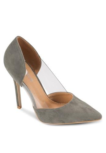 esprit 衣服Perspex 透明拼接高跟鞋, 女鞋, 鞋