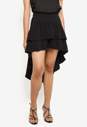 Preen & Proper black Waterfall Skirt 69646AAE6B6034GS_1