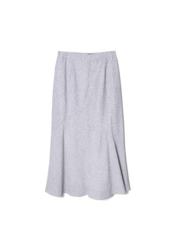 MS. READ grey Linen Mermaid Skirt, - 6 Sizes (Grey) A72FBAA55D1F38GS_1