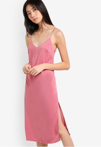 TOPSHOP pink Midi Slip Dress TO412AA56VKTMY_1