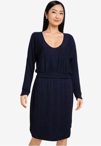Gap navy Softspun Banded Waist Dress 7C077AAF98EAB6GS_1